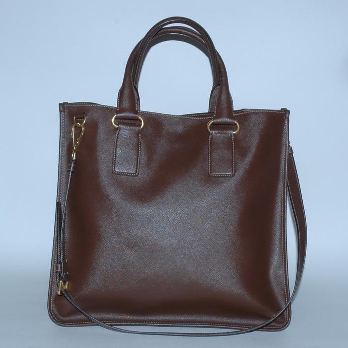 prada authentic bag bag brown leather leather shopper ebay. Black Bedroom Furniture Sets. Home Design Ideas